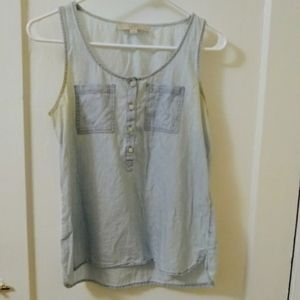 FREE WITH PURCHASE Chambray Tank